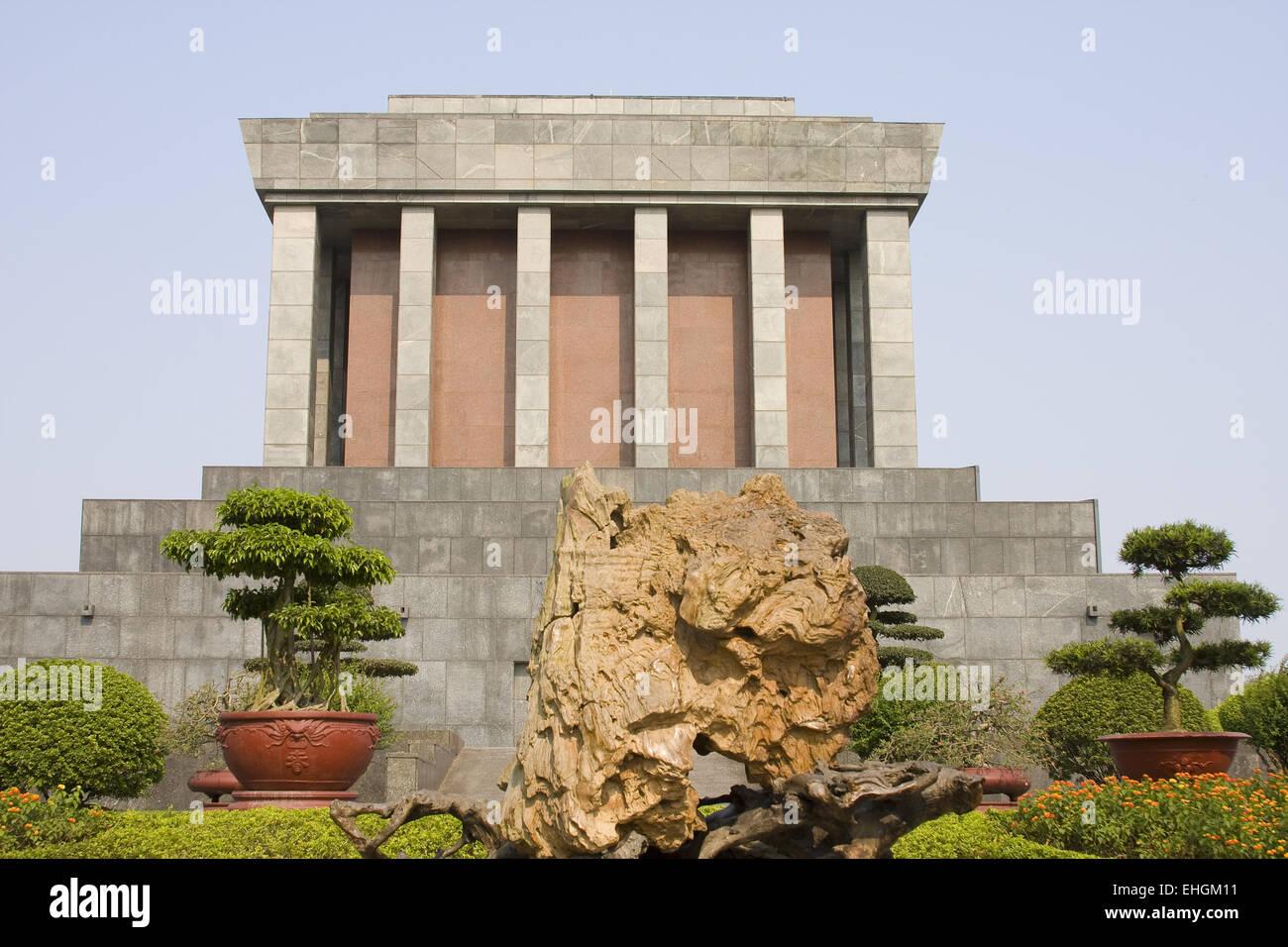 Ho Chi Minh Mausoleum, Hanoi, Vietnam, Asia - Stock Image