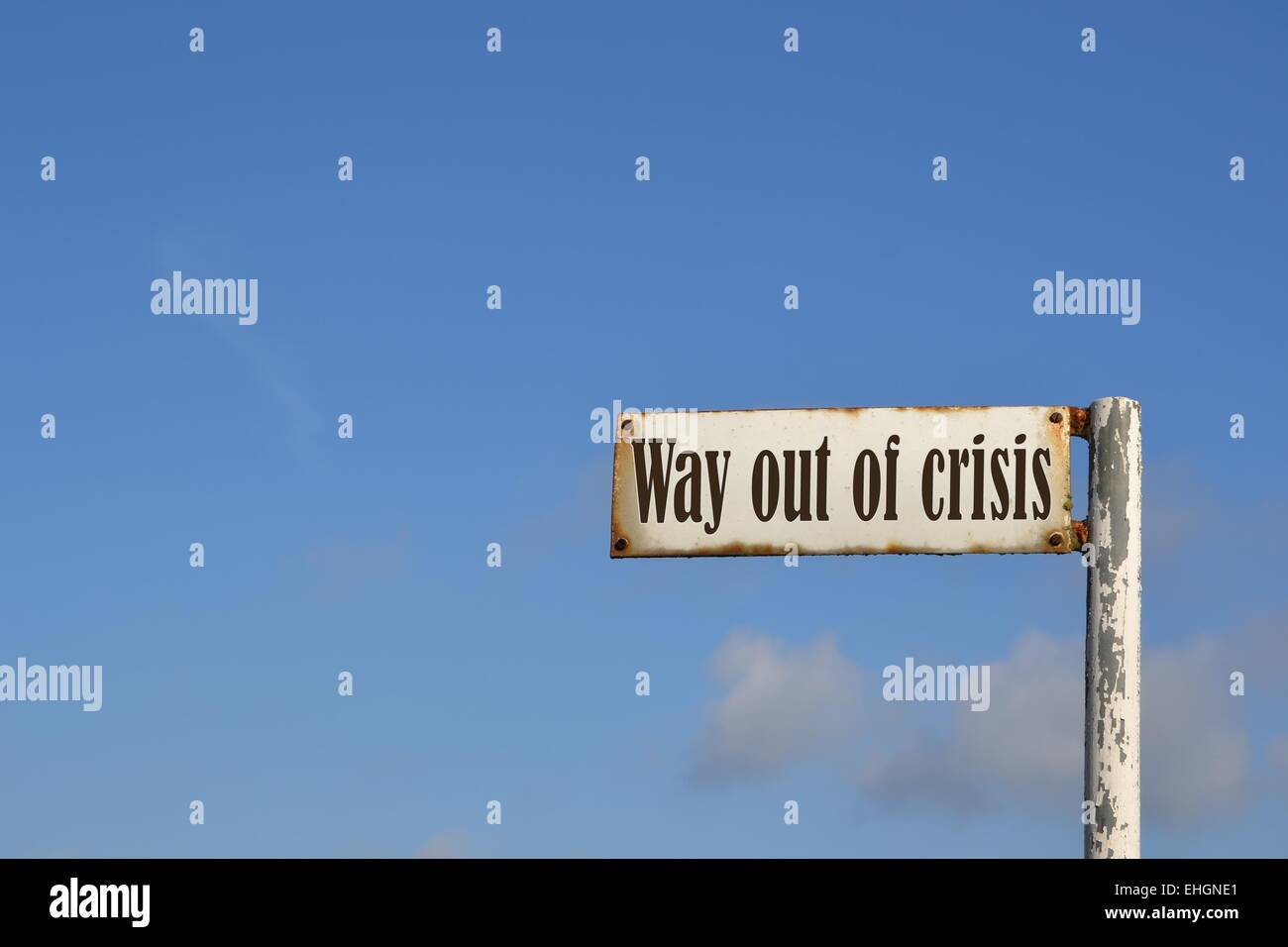 Way out of crisis Stock Photo