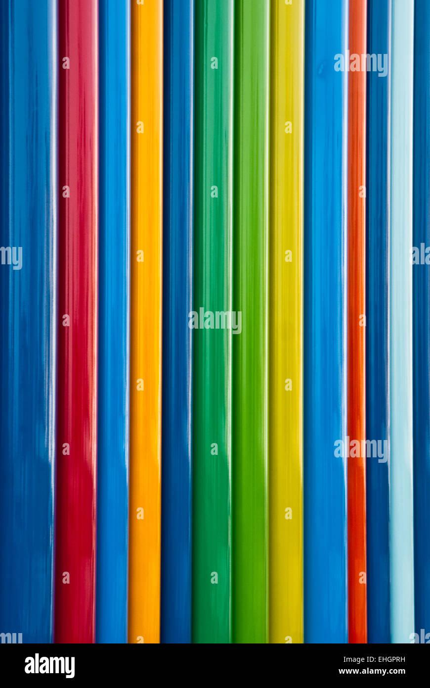 Columns of full spectrum primary colors - Stock Image