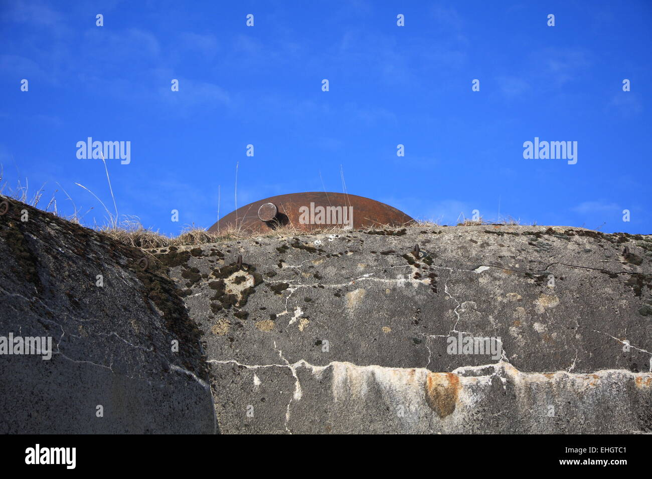 Bunker partial view - Stock Image