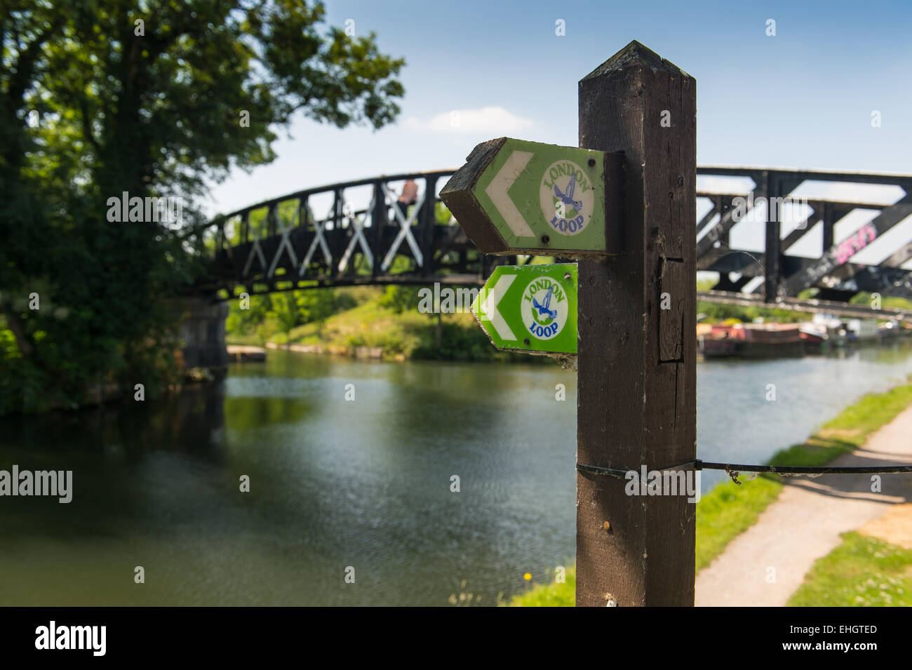London Outer Orbital Path - London Loop - Stock Image