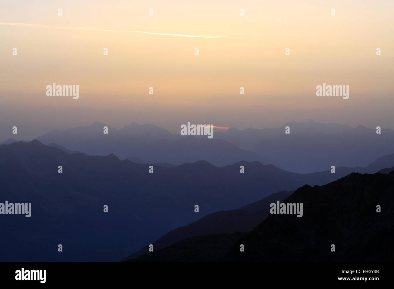 sinrice in the alps Stock Photo
