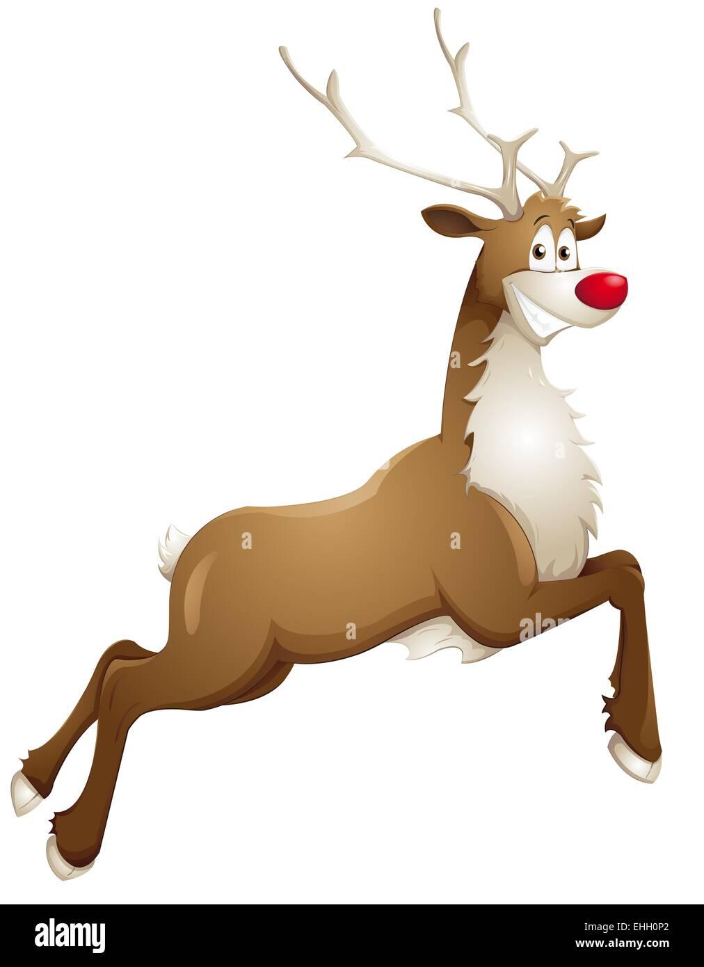 grinning reindeer Stock Photo