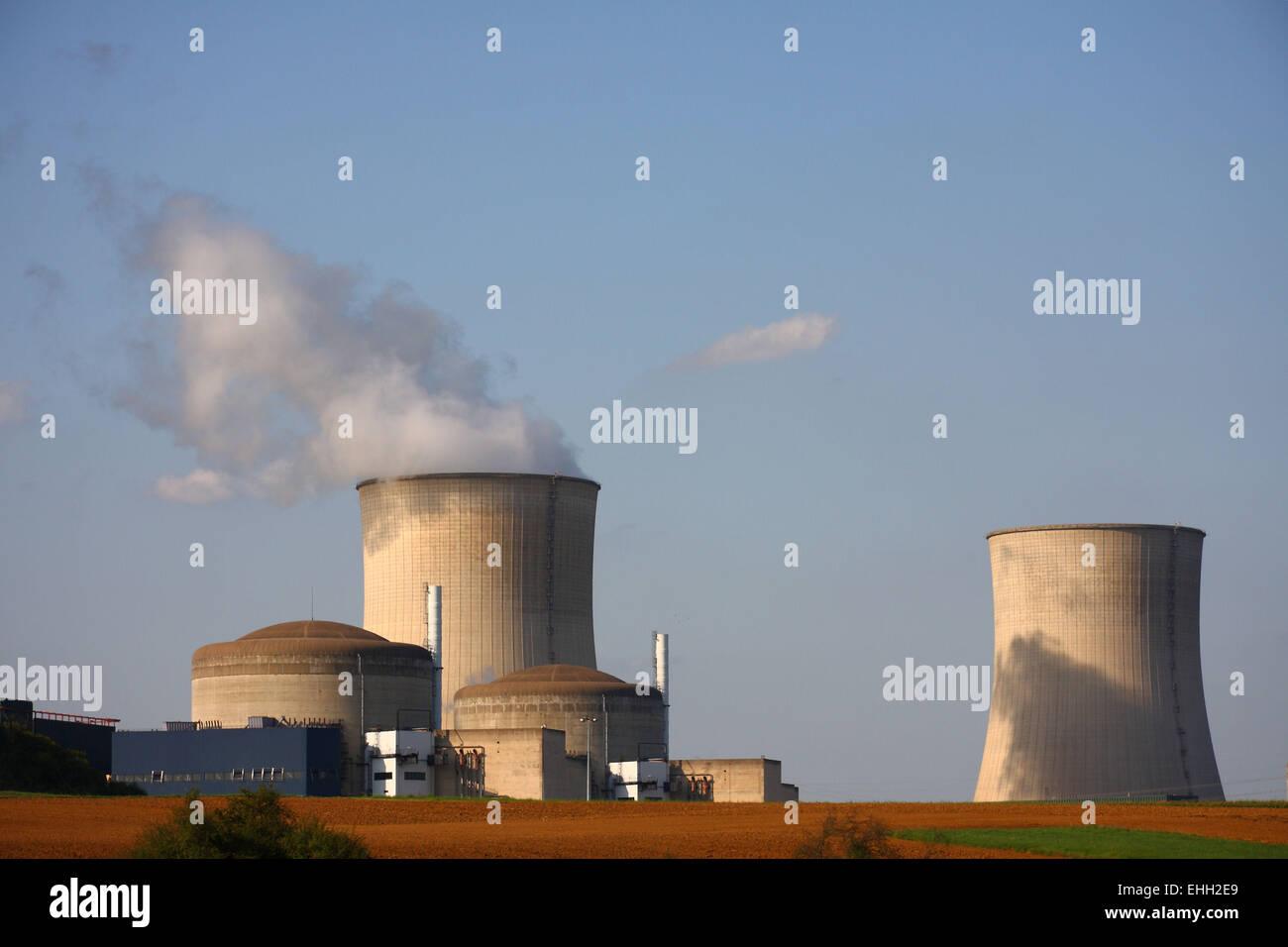 Atomic power plant Cattenom - Stock Image