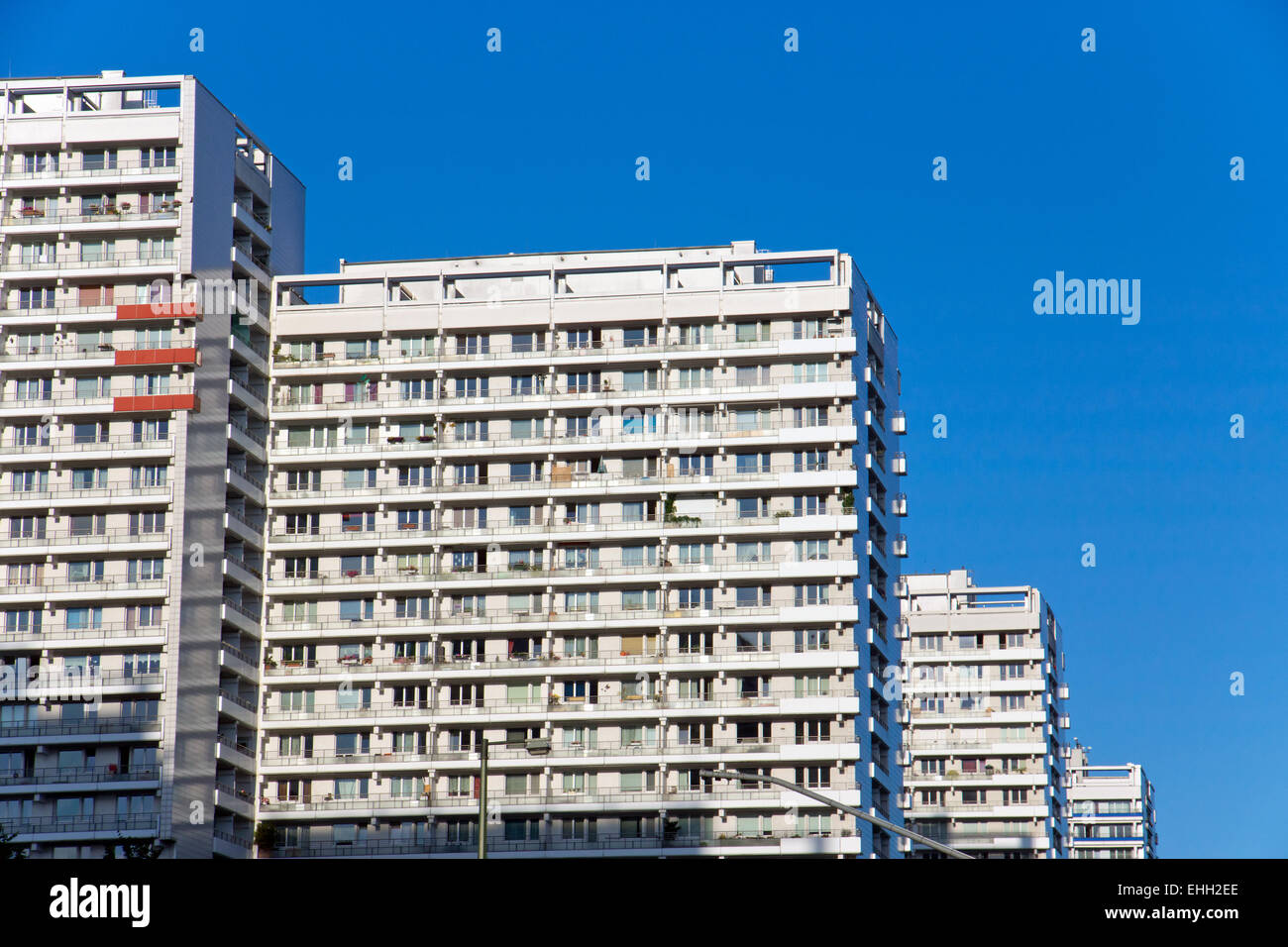 Typical highrise buildings in Berlin Stock Photo