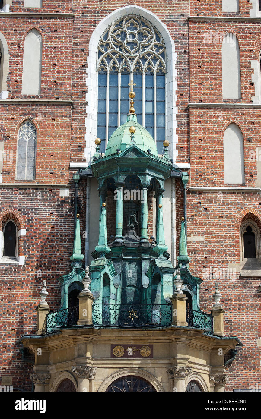 St. Mary´s Church in Krakau Poland - Stock Image