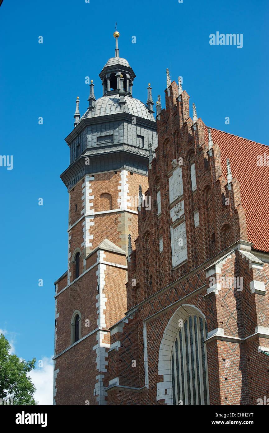 The Corpus Christi Church in Krakau - Stock Image