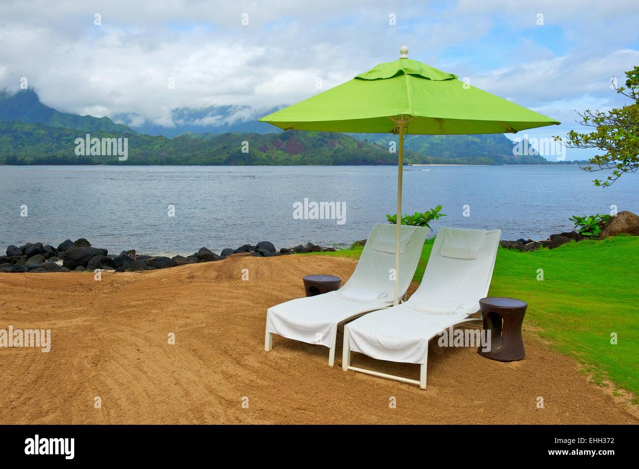 Twin Therapy Chairs on Kauai - Stock Image