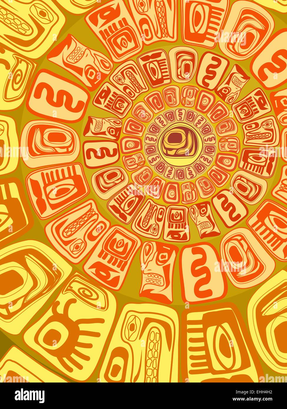 background - primitive figures - Stock Image