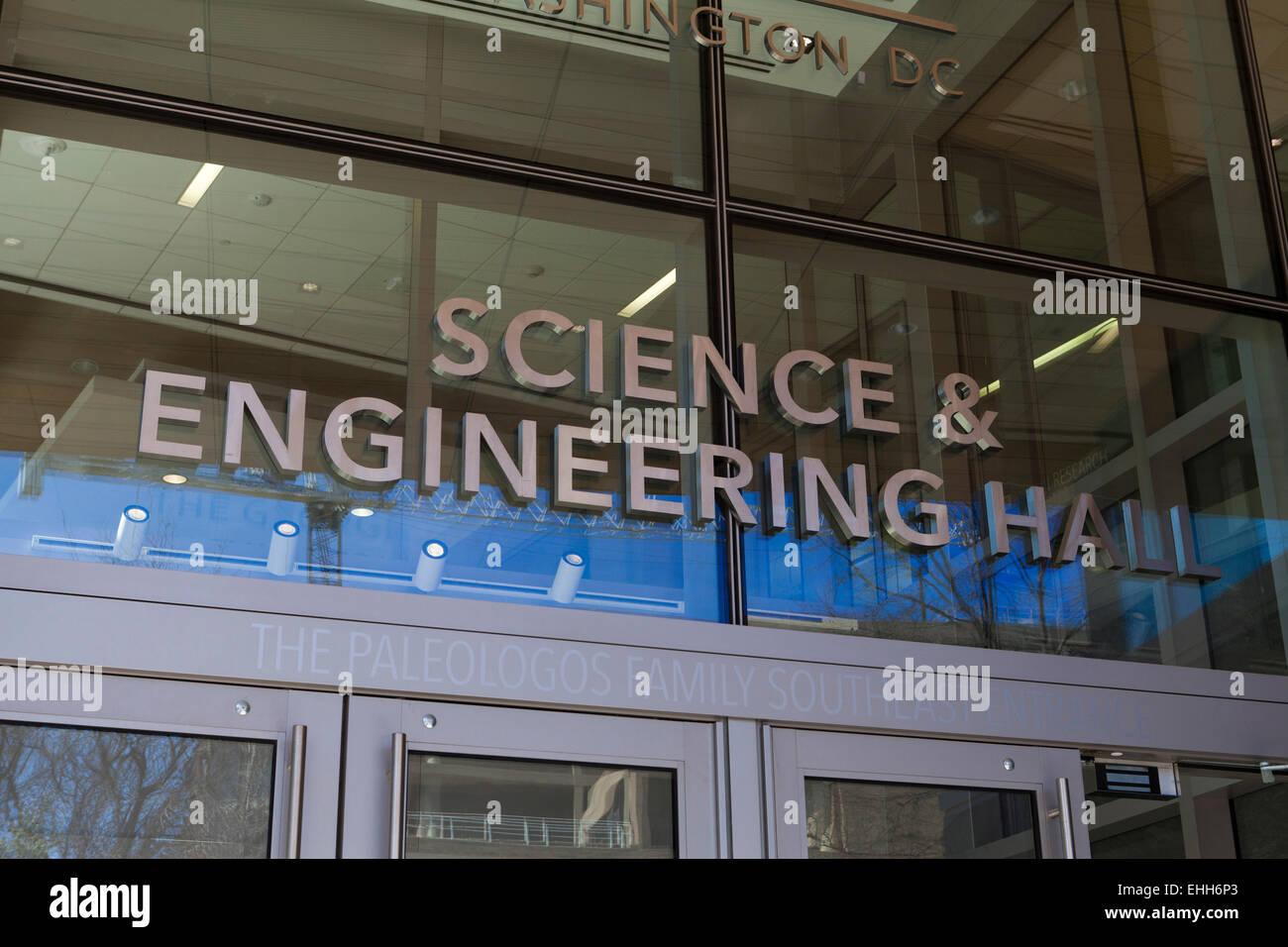 George Washington University Science and Engineering building - Washington, DC USA - Stock Image
