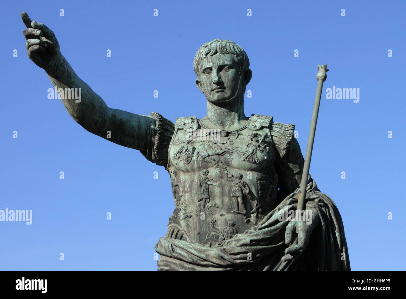 Roman emperor Augustus Stock Photo