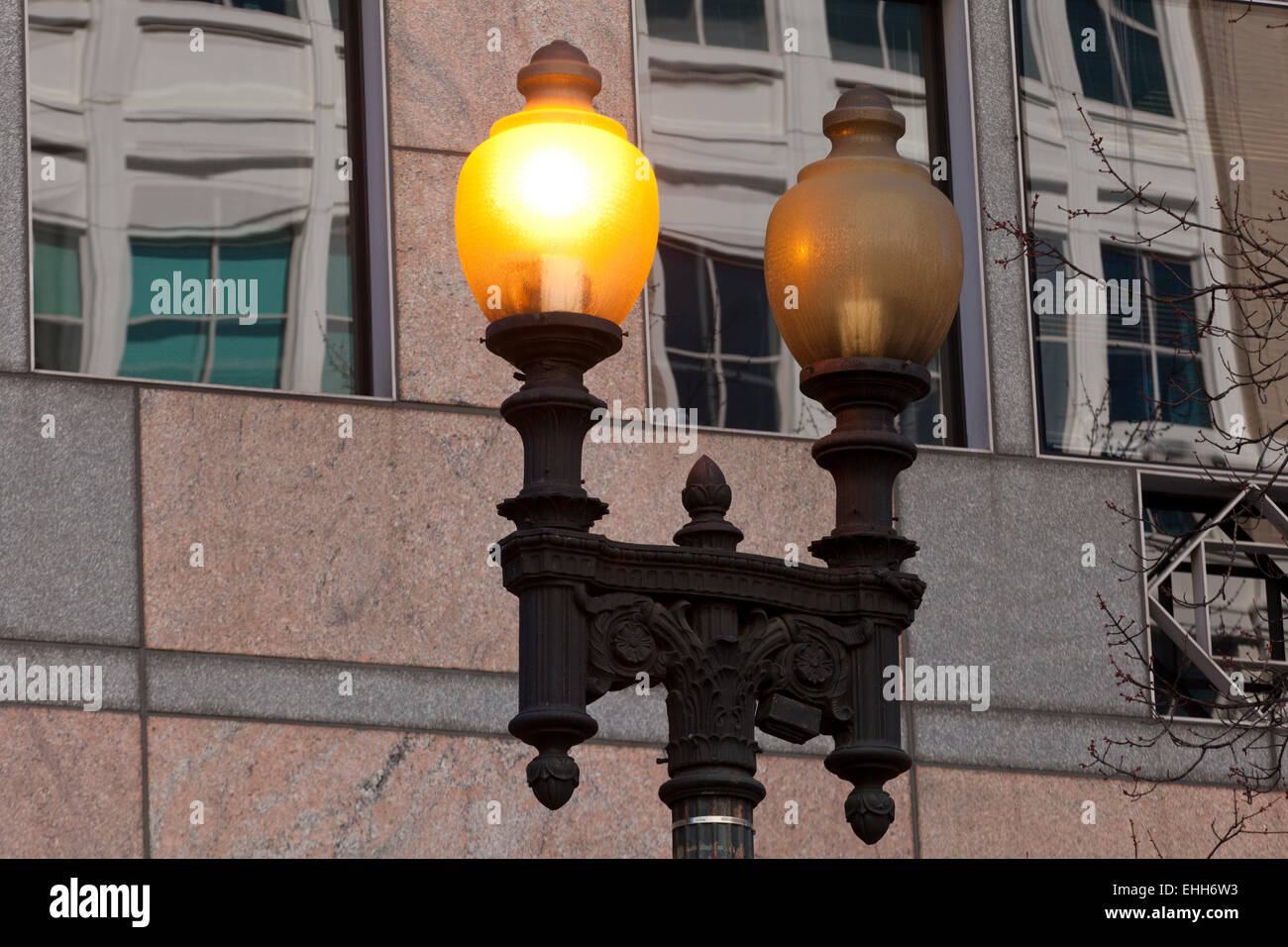 Old street lamp - USA - Stock Image