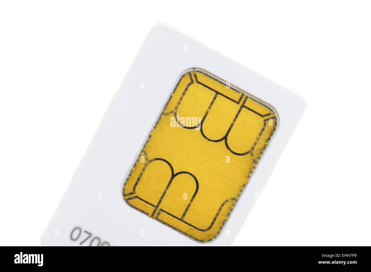 SIM-Karte / Sim-card - Stock Image
