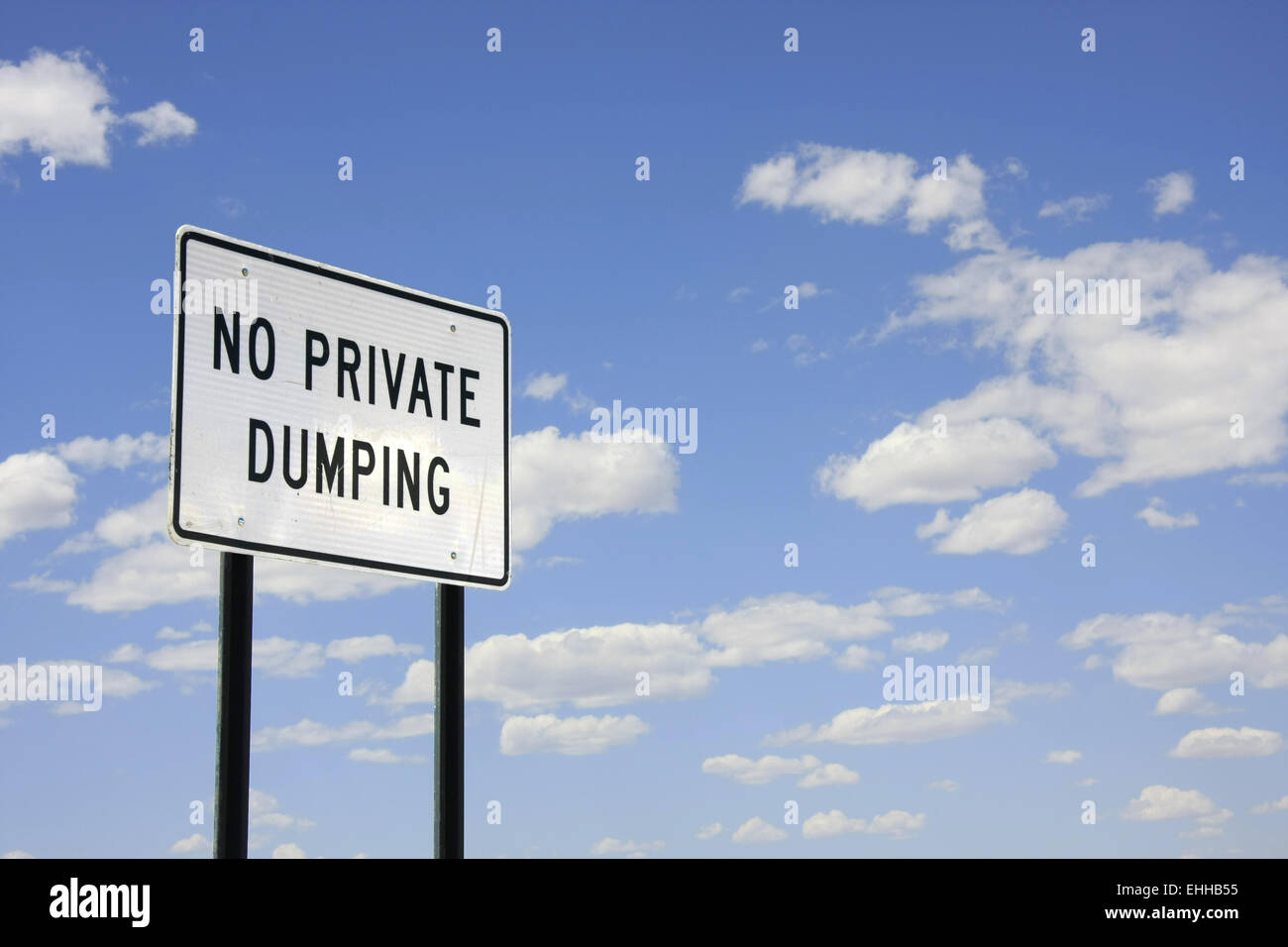 No private dumping - Stock Image