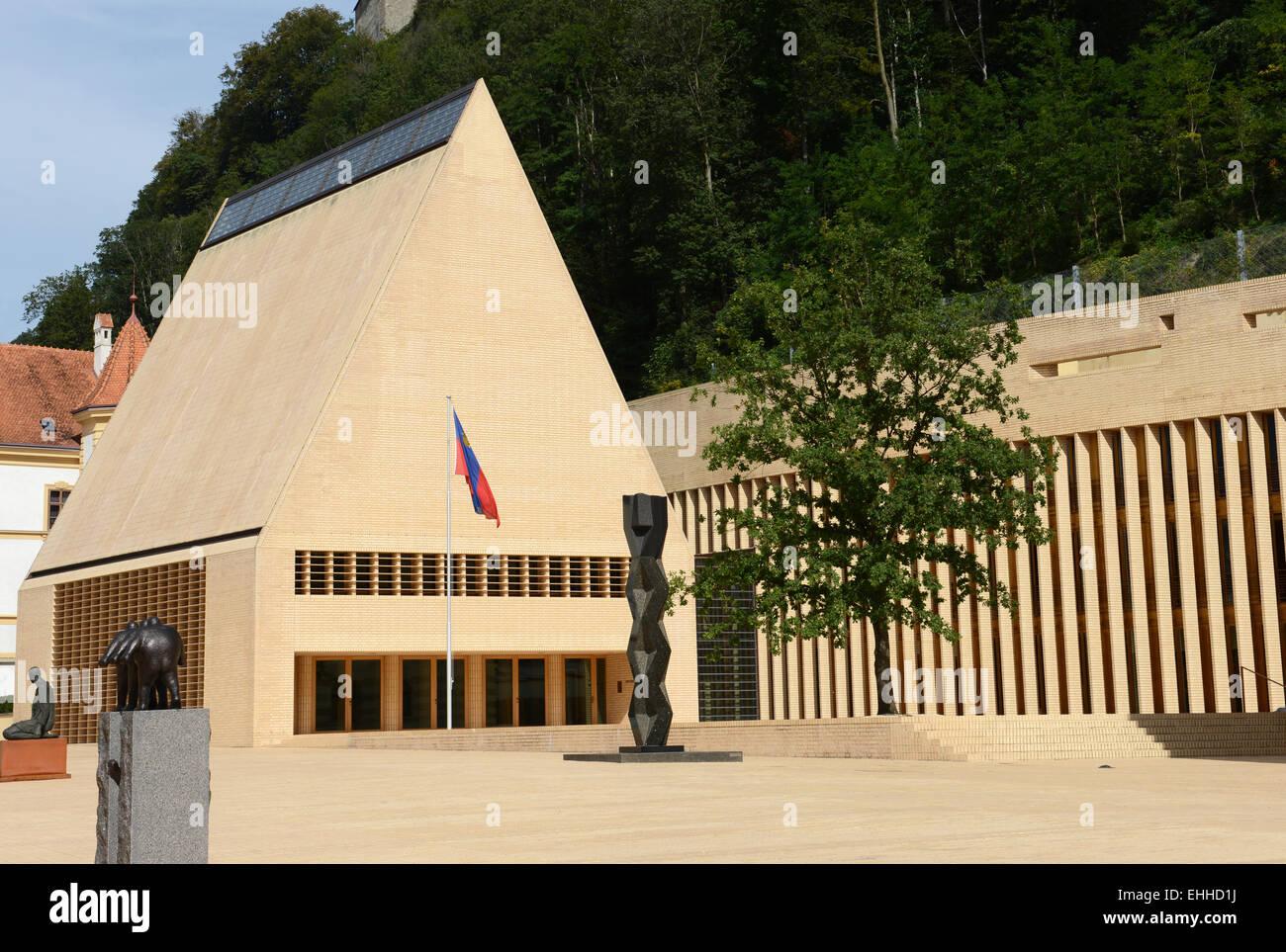 Landtag in Liechtenstein / Parliament of Liechtenstein Stock Photo