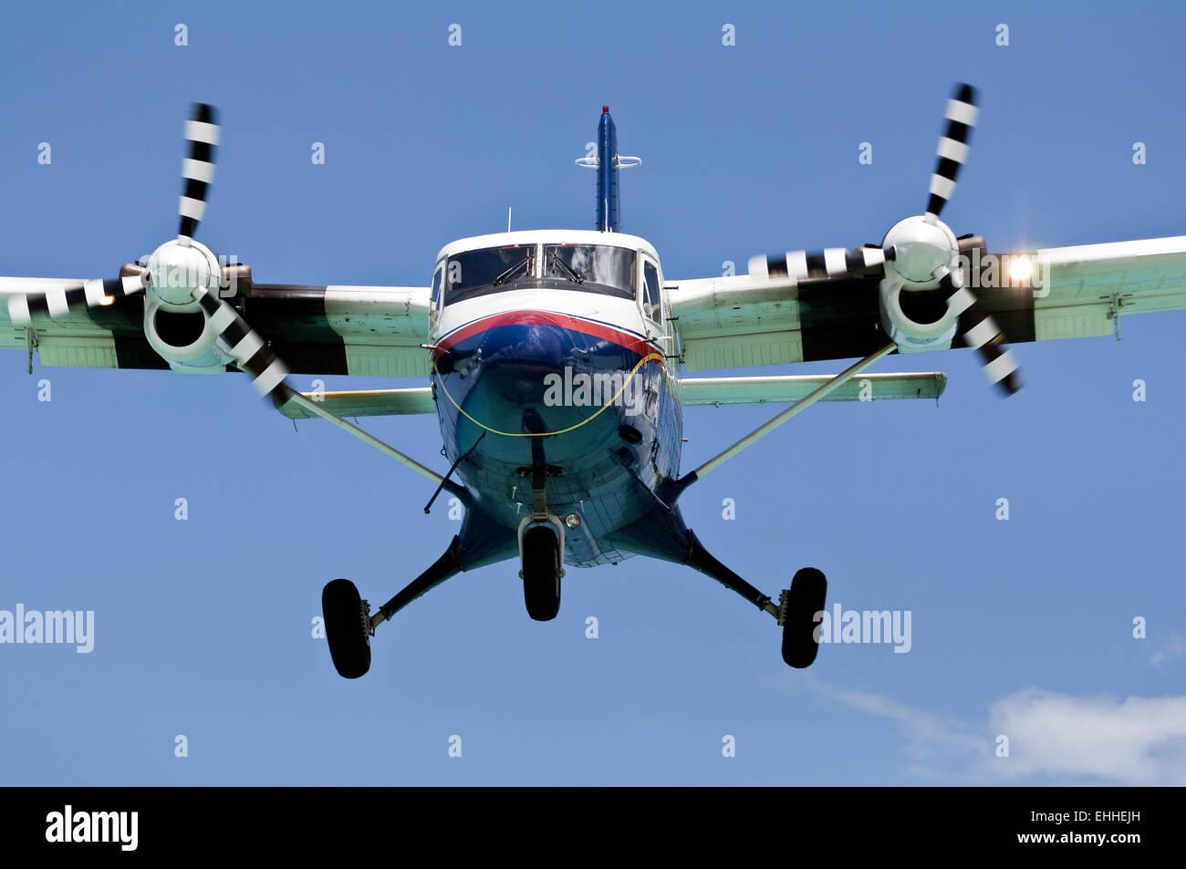 Turboprop passenger airplane. - Stock Image