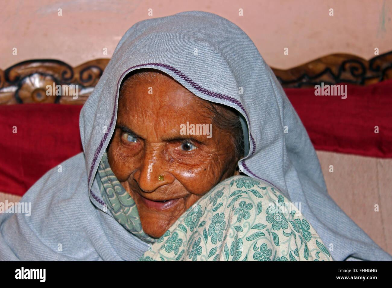 age, alone, concerned, elderly, ladies, lady, lonely, looking, medication, medicine, old, pensioner, pills, ridden, - Stock Image