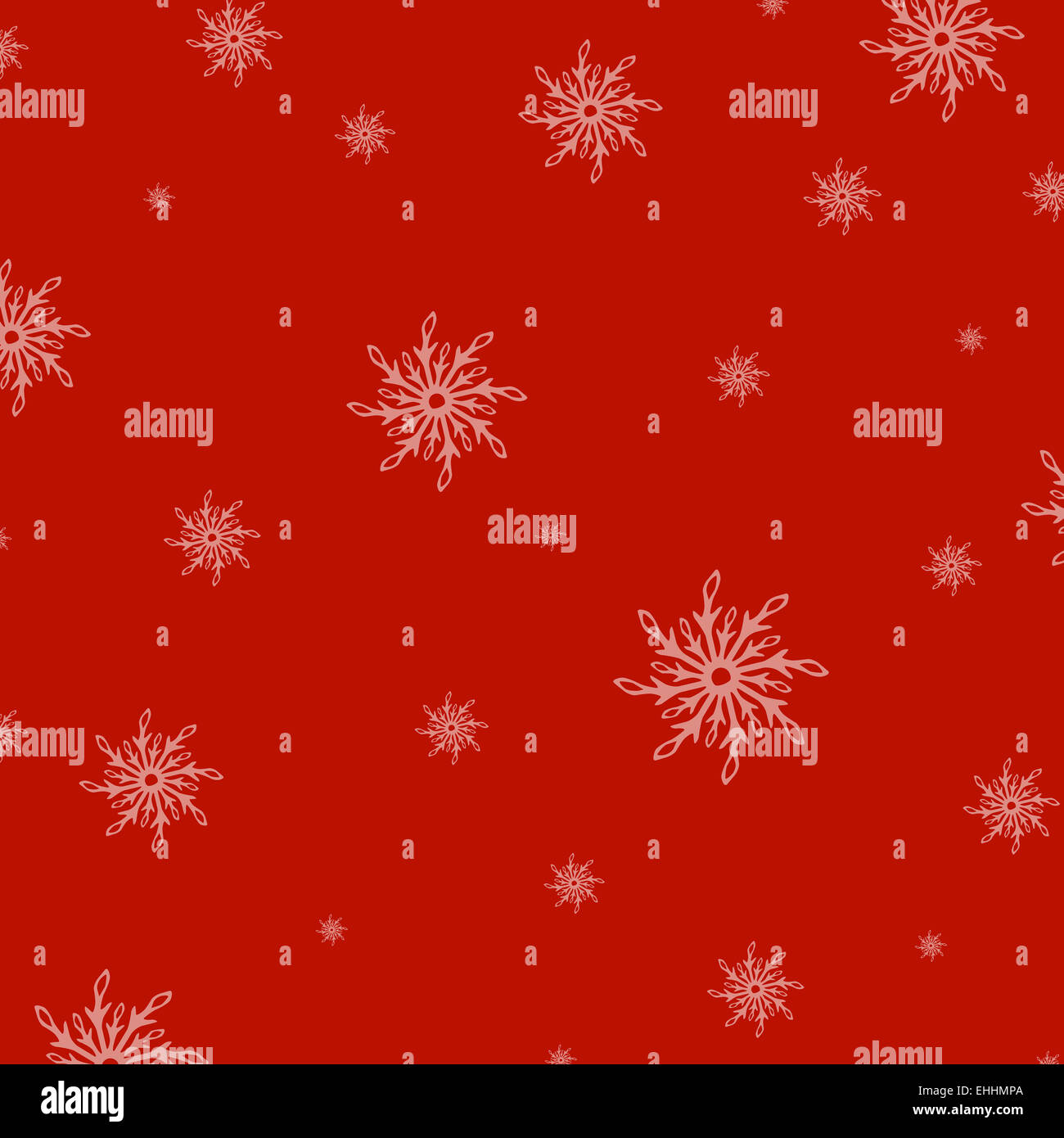 Red New Years Background With Snowflake - Stock Image
