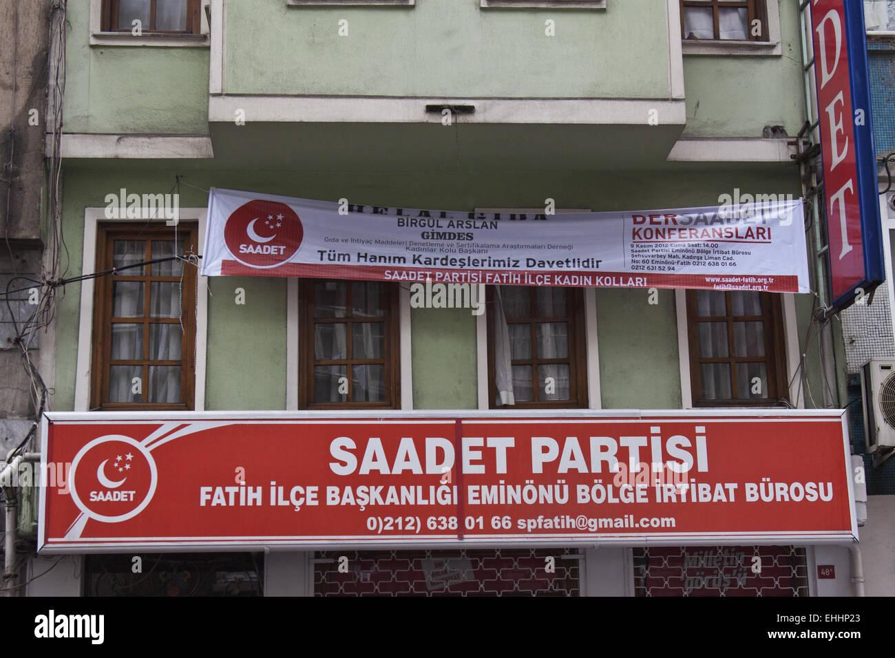 Saadet Partisi Stock Photo