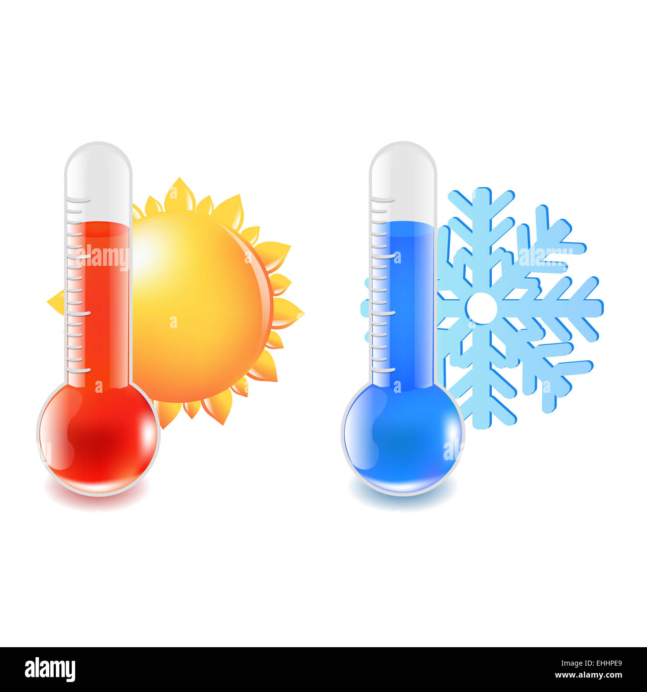 Thermometer Hot And Cold Temperature - Stock Image