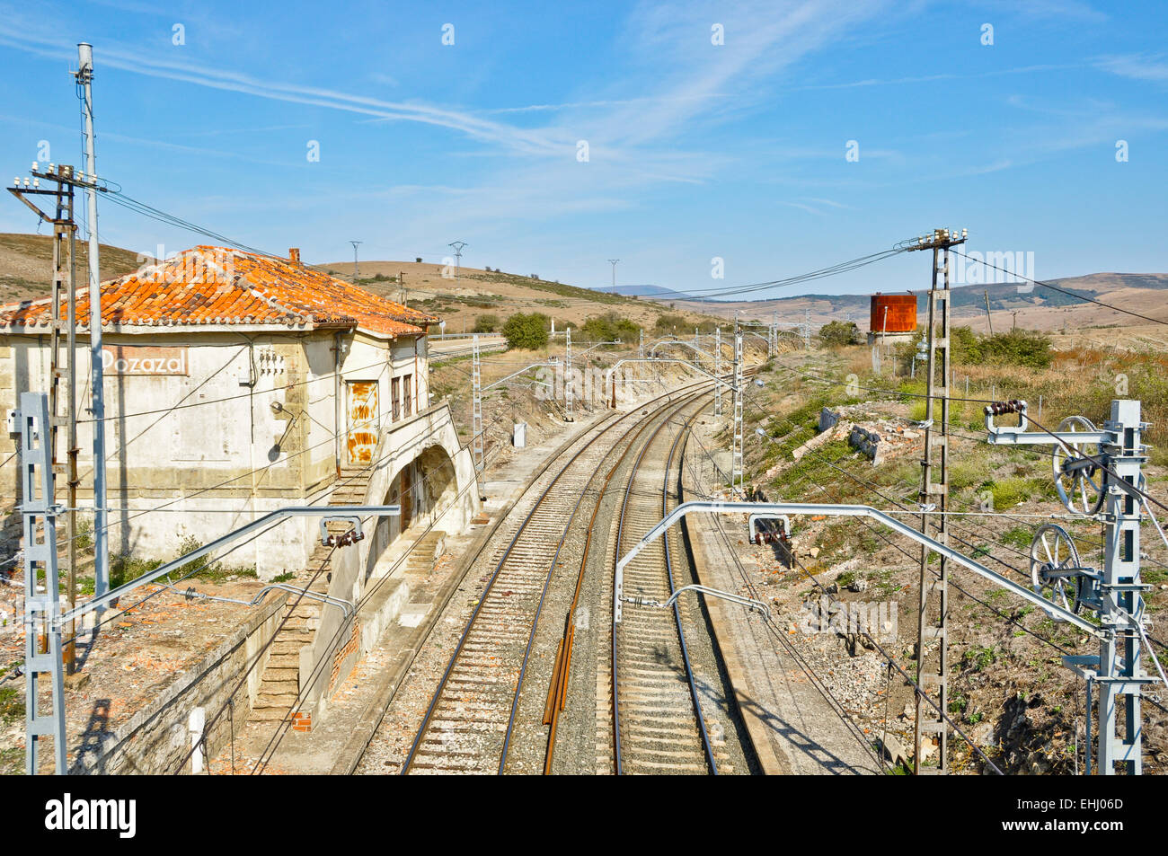 Old Railroad Station in Spain - Stock Image