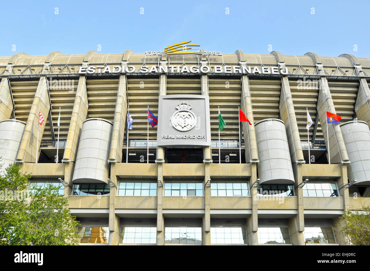 Real Madrid Stadium - Stock Image