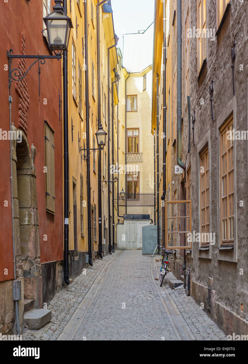Alley in Stockholm Stock Photo