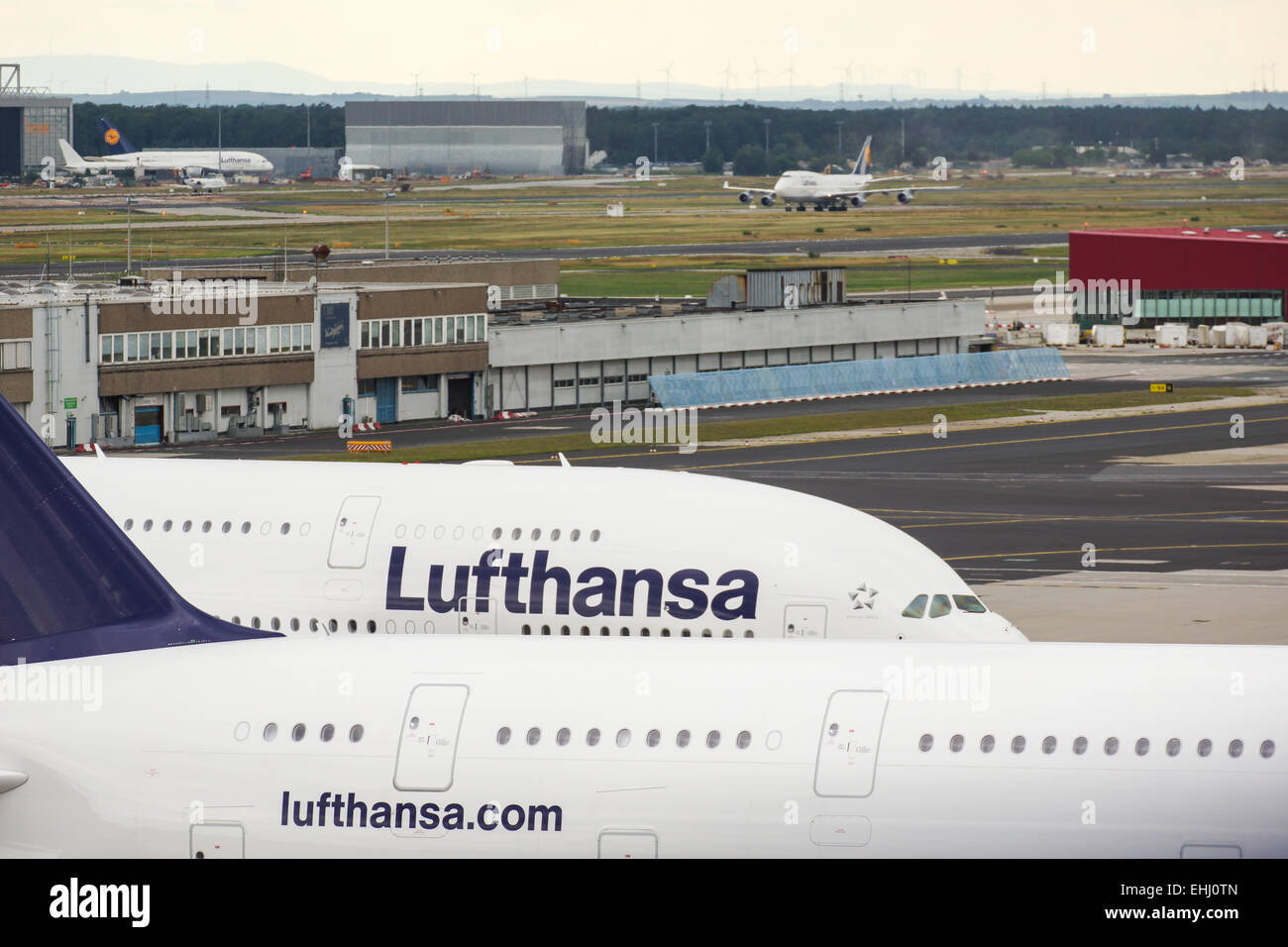 Two A380-Airplanes - Stock Image