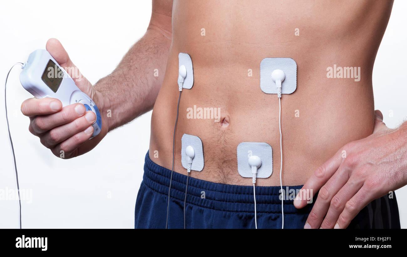 ems training Electrical muscle stimulation - Stock Image