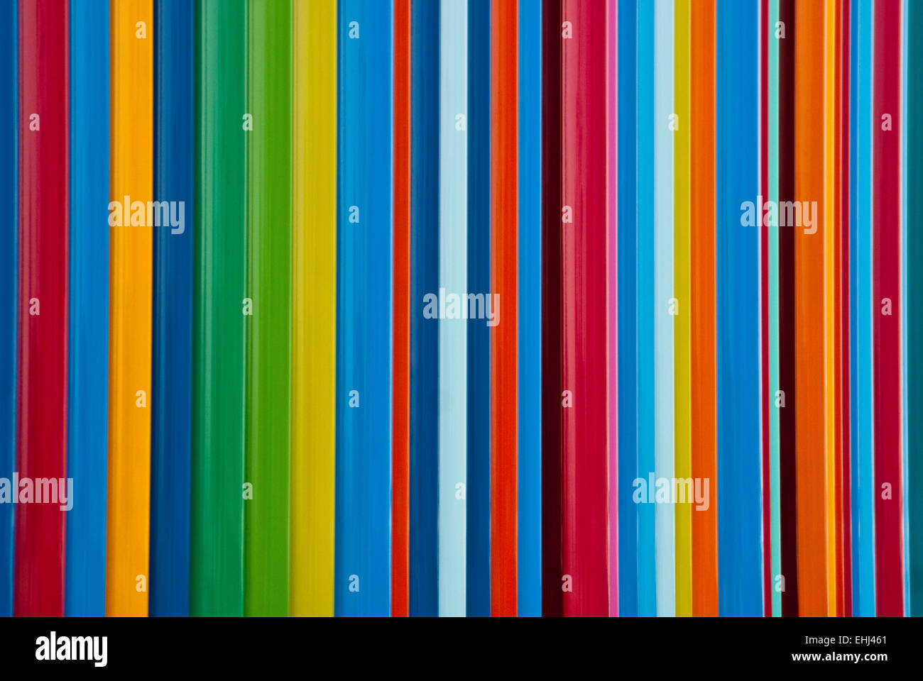 Lines of full spectrum primary colors - Stock Image
