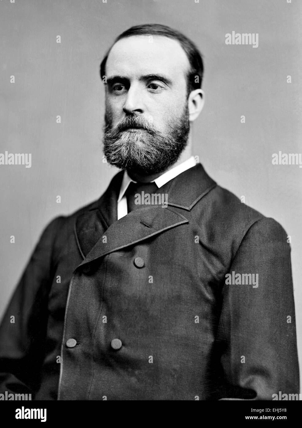 Charles Stewart Parnell, Irish landlord, nationalist political leader, land reform agitator, and the founder and - Stock Image