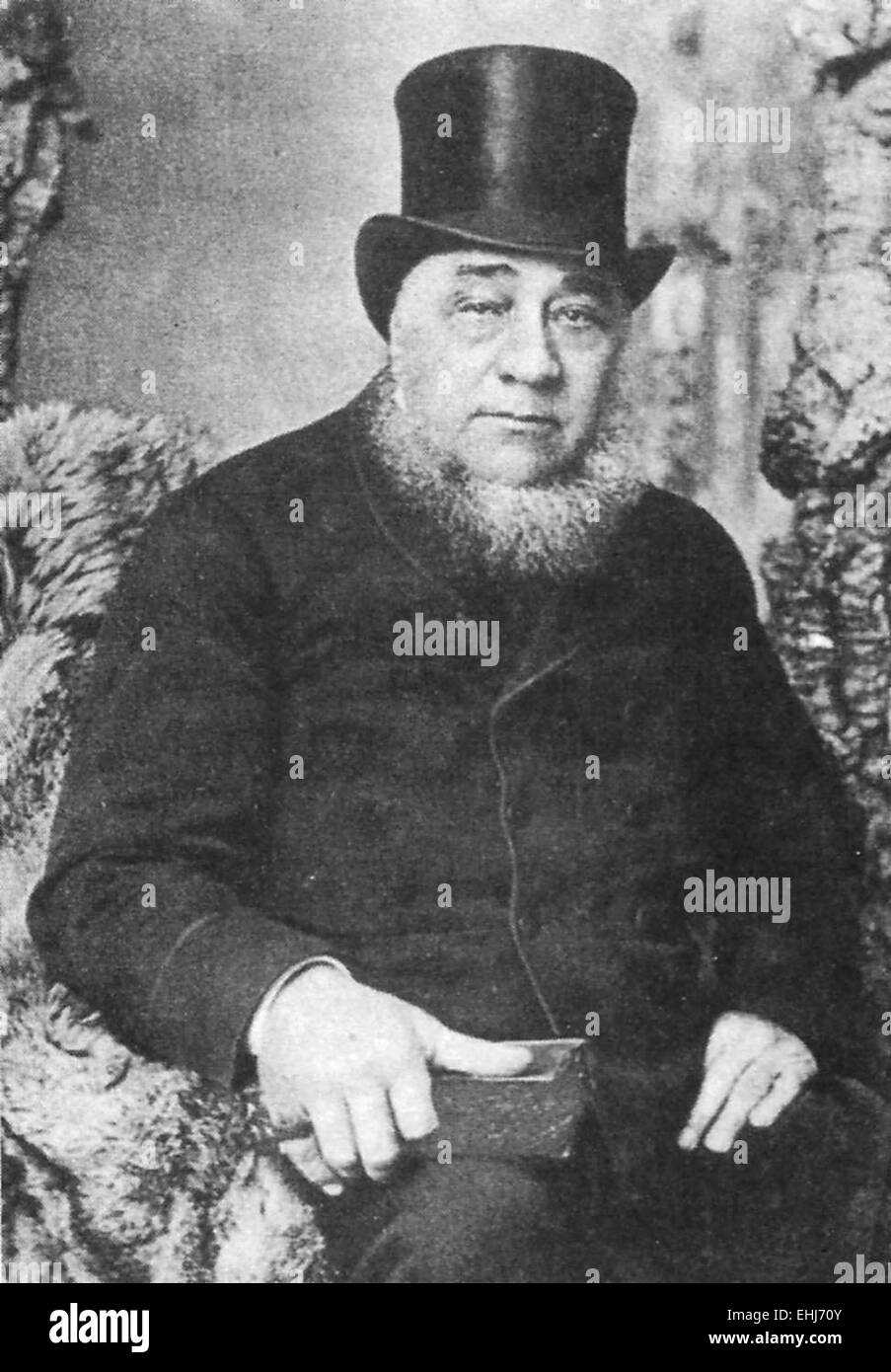 Paul Kruger, Boer leader and President of the South African or Transvaal Republic from 1883 to 1900. - Stock Image