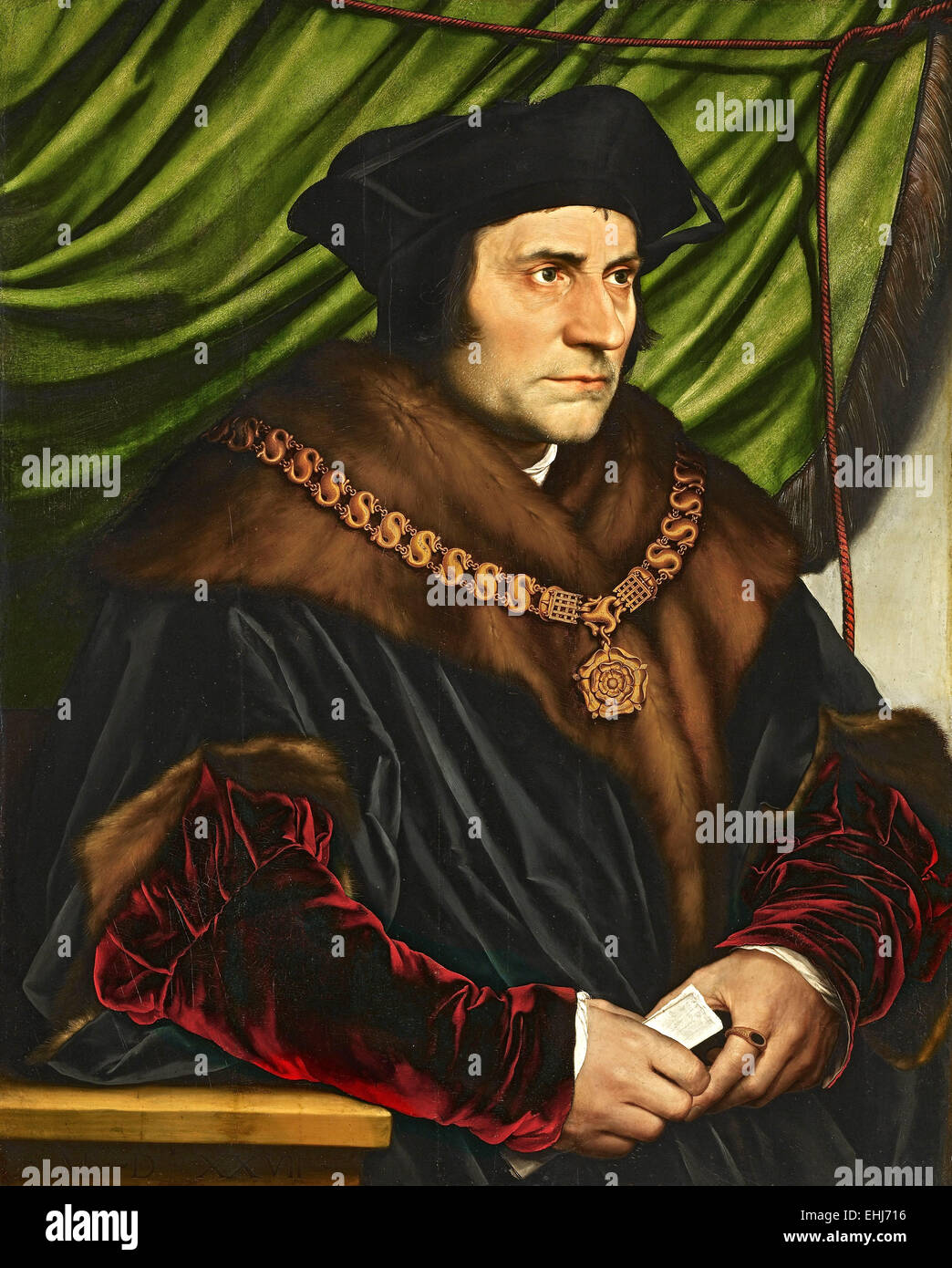 Sir Thomas More, English lawyer, social philosopher, author, statesman and noted Renaissance humanist. - Stock Image