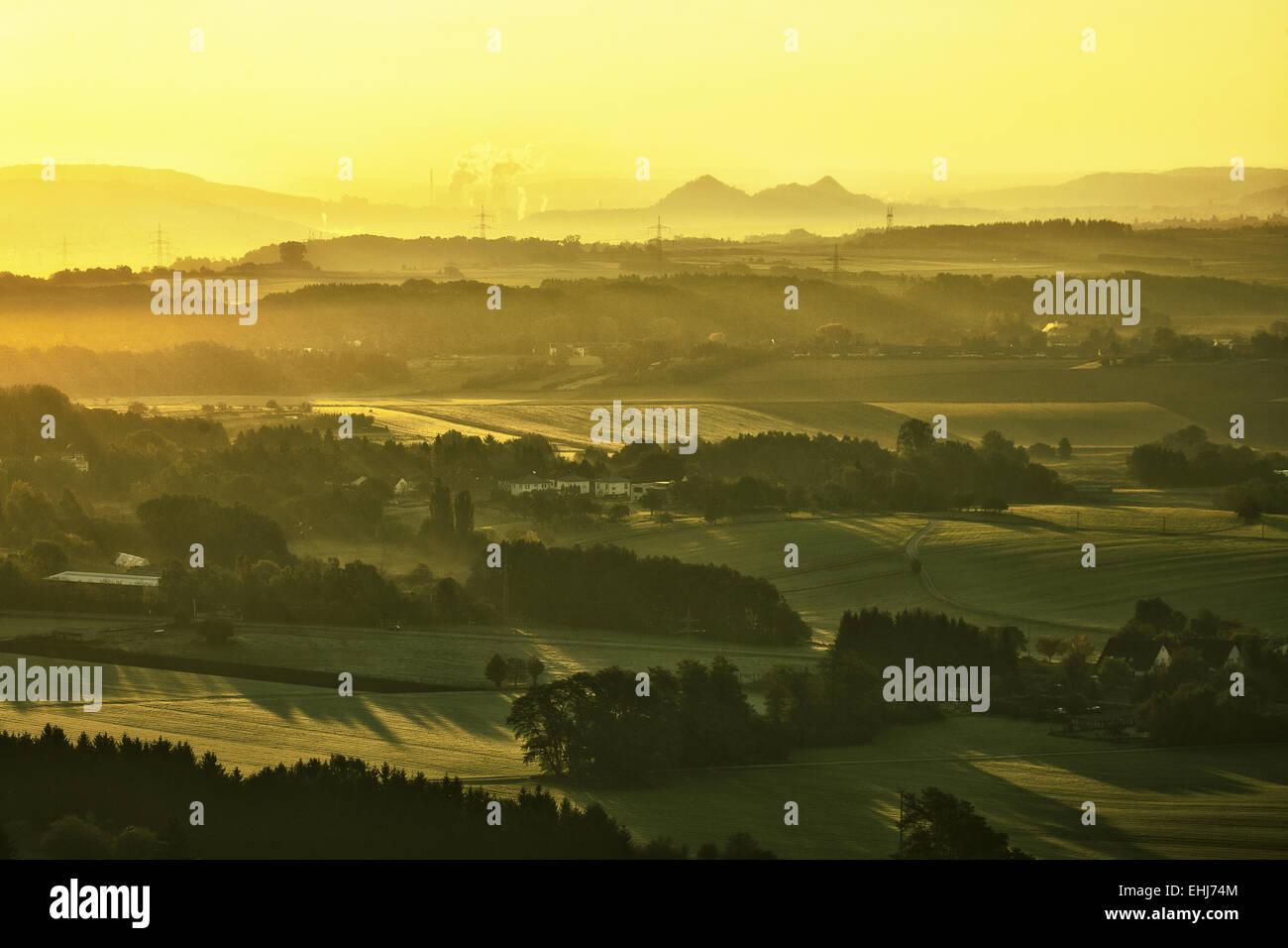Landscape near Felsberg, Saarland, Germany - Stock Image