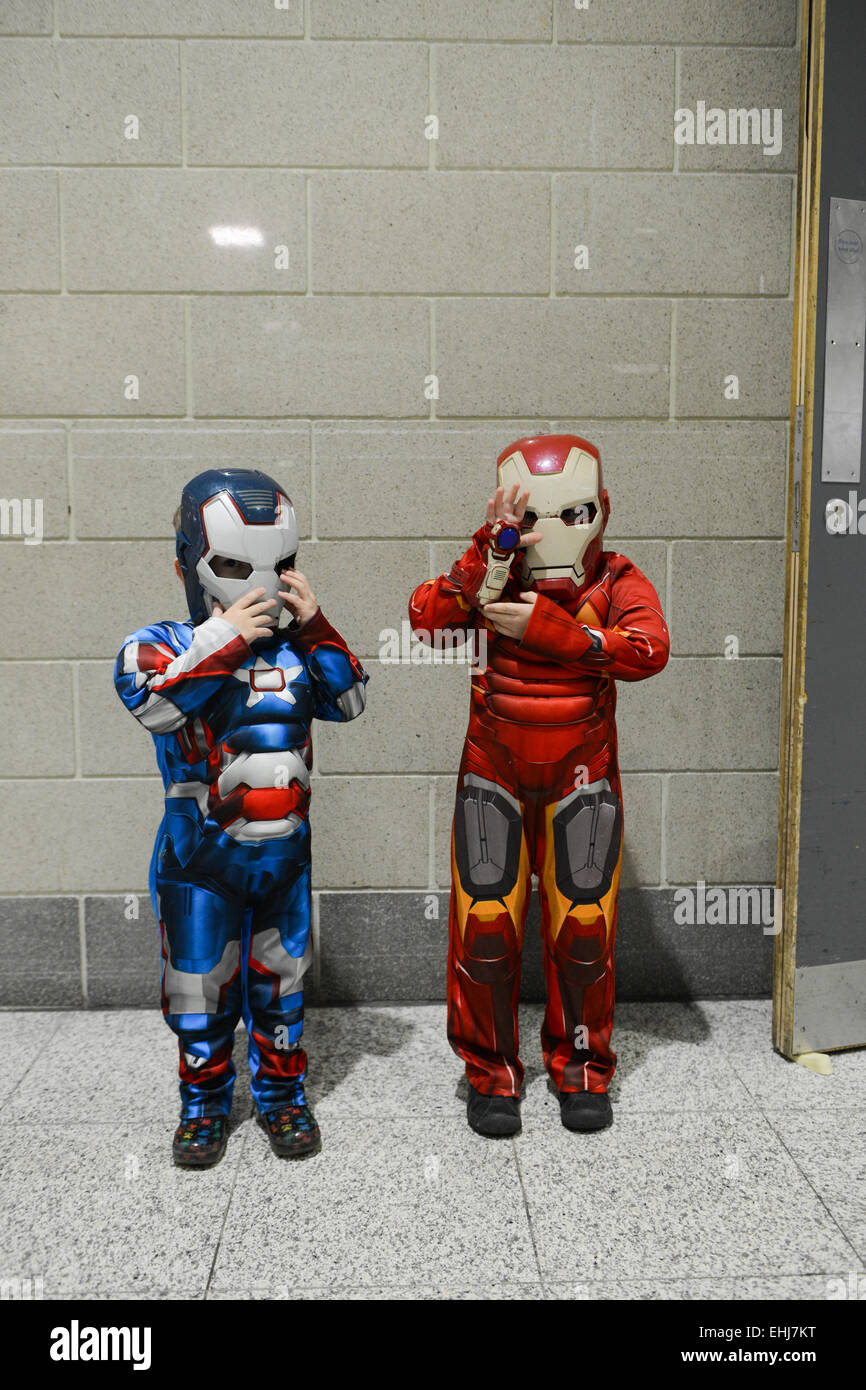 Excel, London UK. 14th March 2015. Cosplay is on display the London Super Comic Convention being held at London's - Stock Image