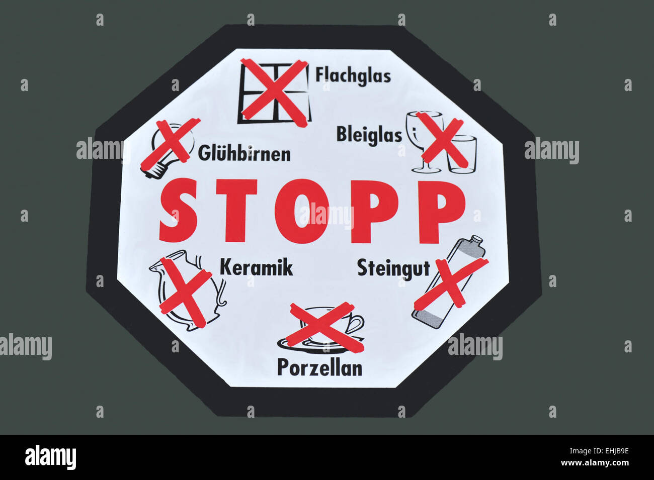 Stop sign for waste Stock Photo