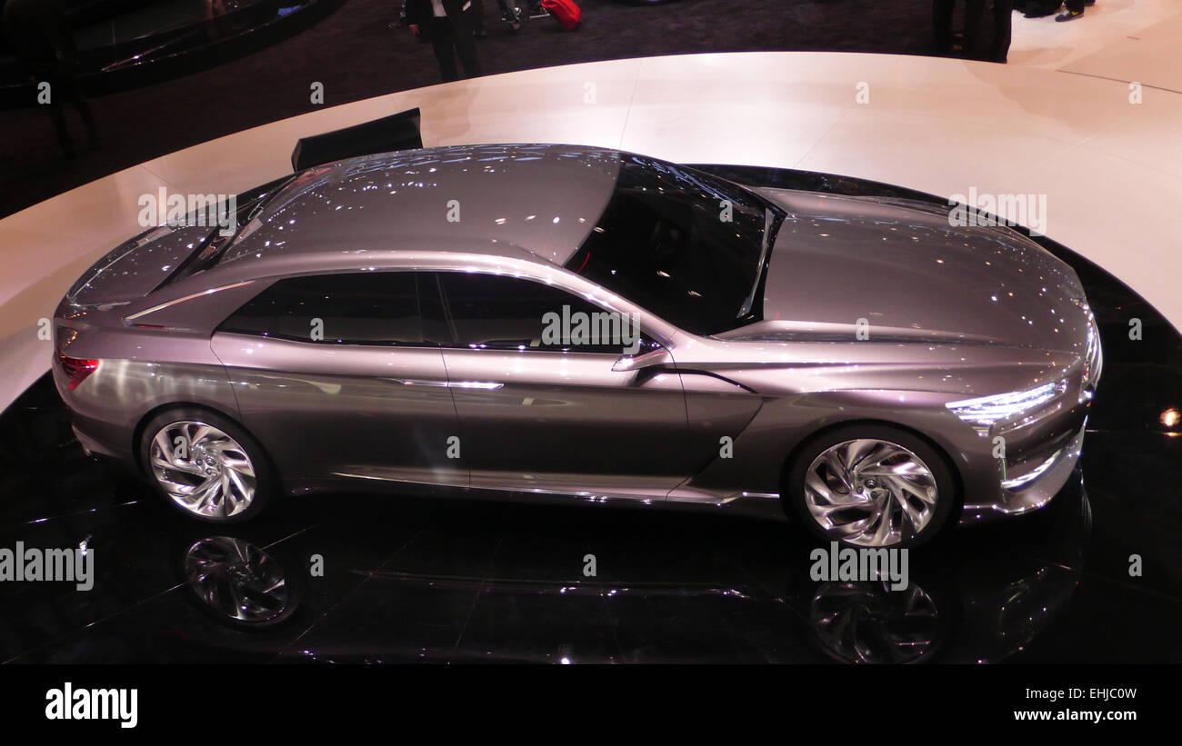 Concept car in Geneva Motor Show by Citroën - Stock Image