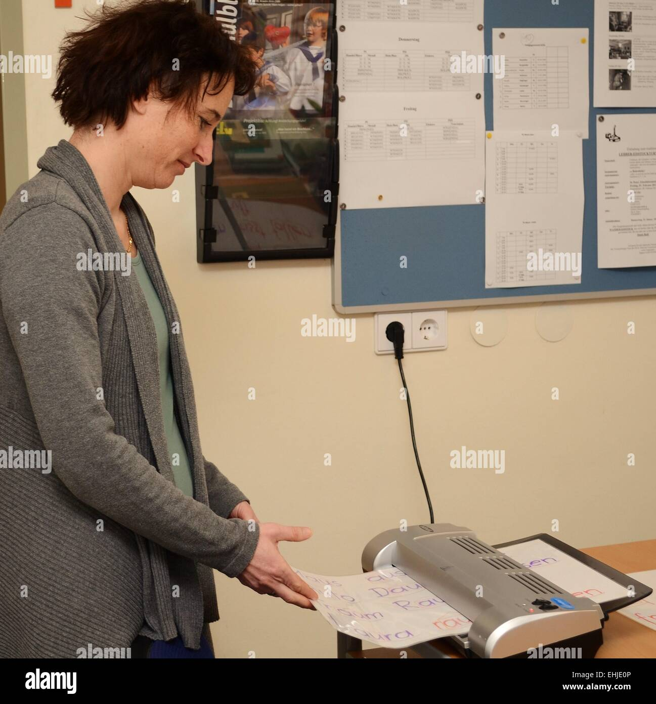 woman in the office - Stock Image