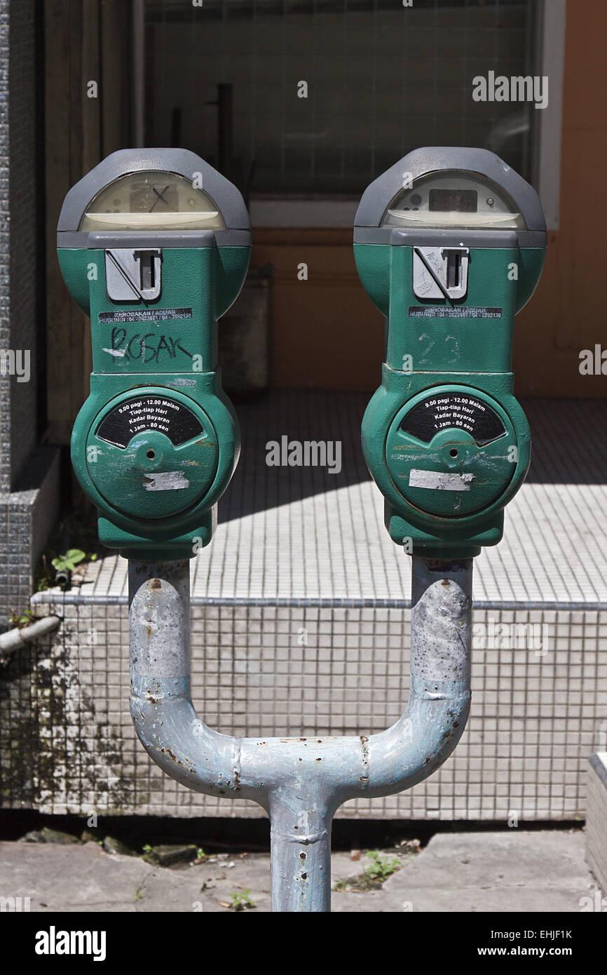 Parking meters Stock Photo