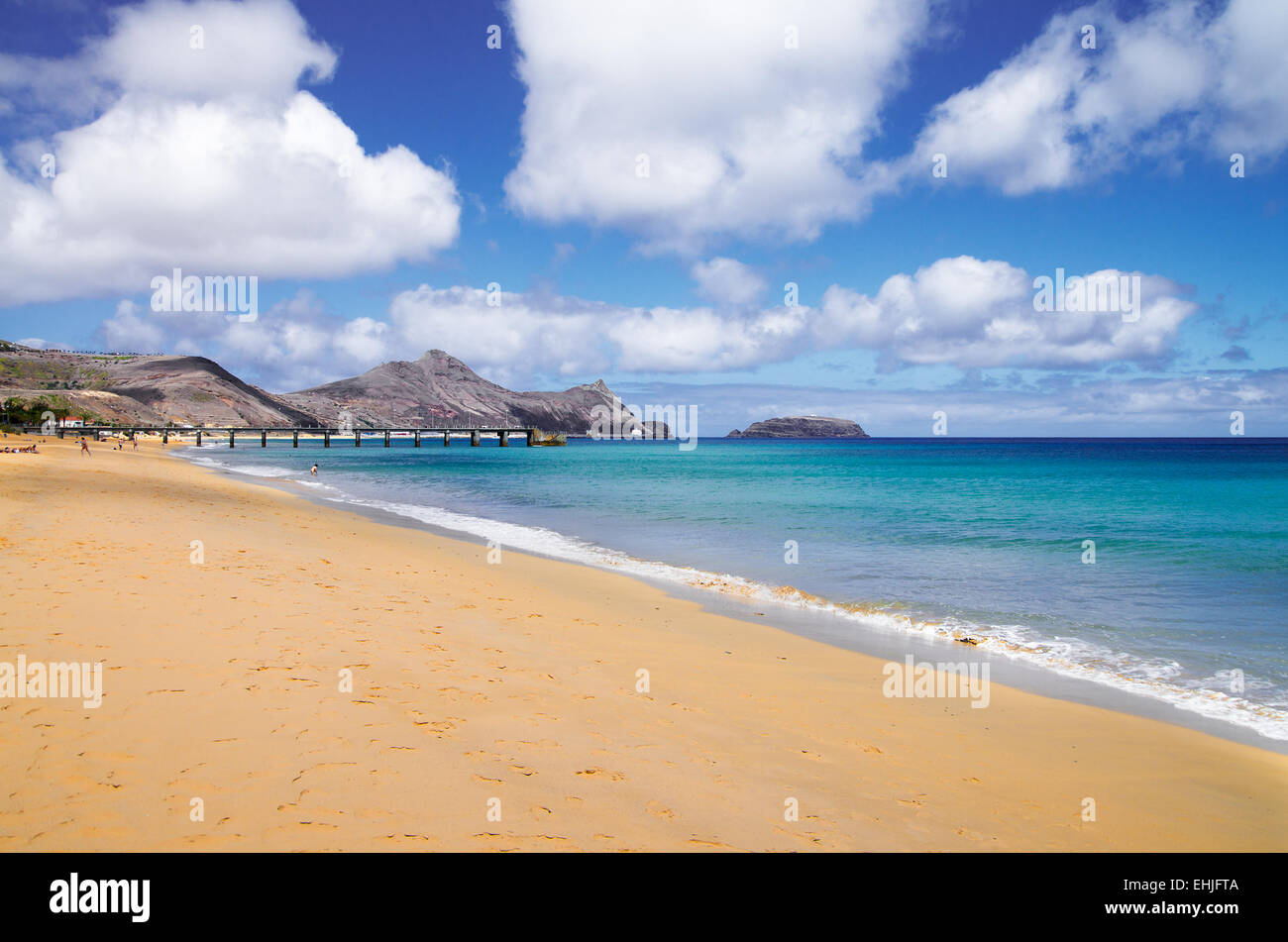 Porto Santo golden beach - Stock Image