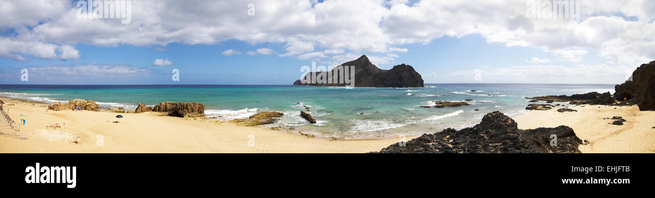 Ponta da Calheta beach - Stock Image