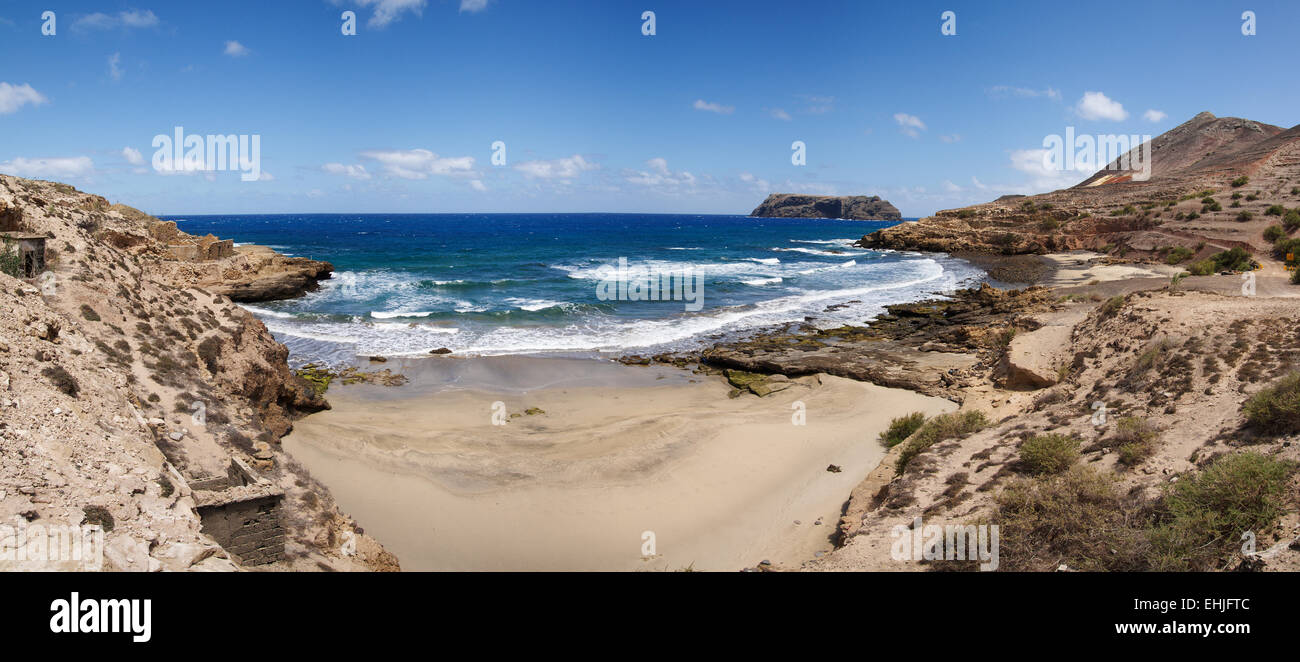 Porto dos Frades and Serra de Fora beach. - Stock Image