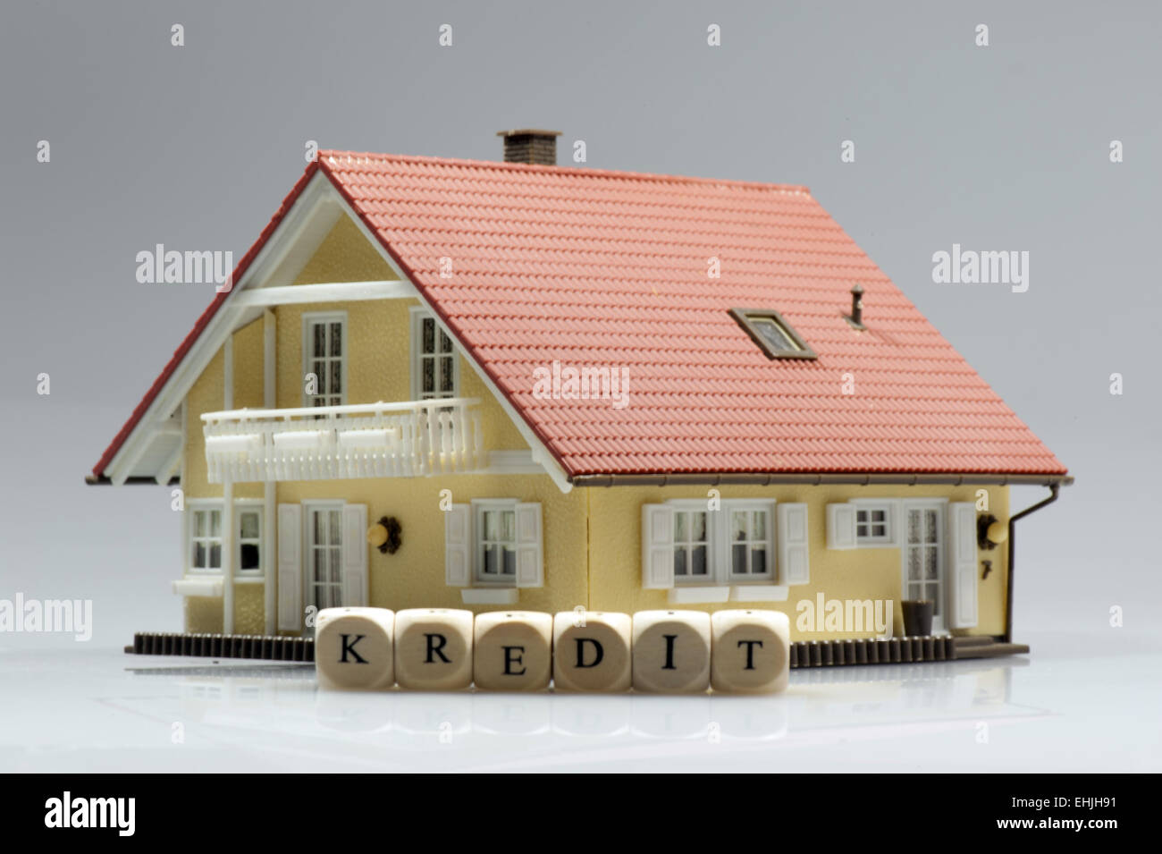 Model house with word credit - Stock Image