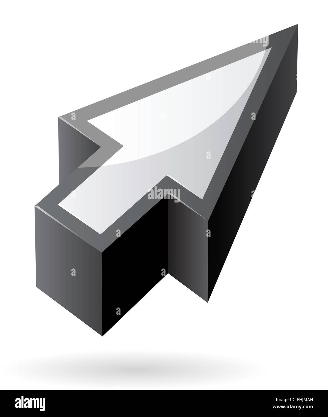 Isometric icon of cursor - Stock Image