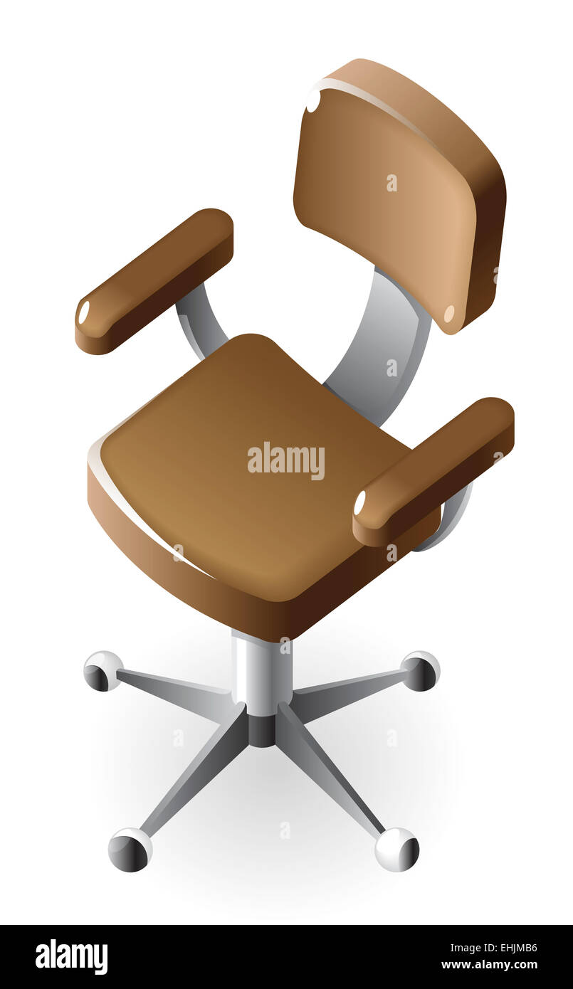 Isometric icon of chair - Stock Image