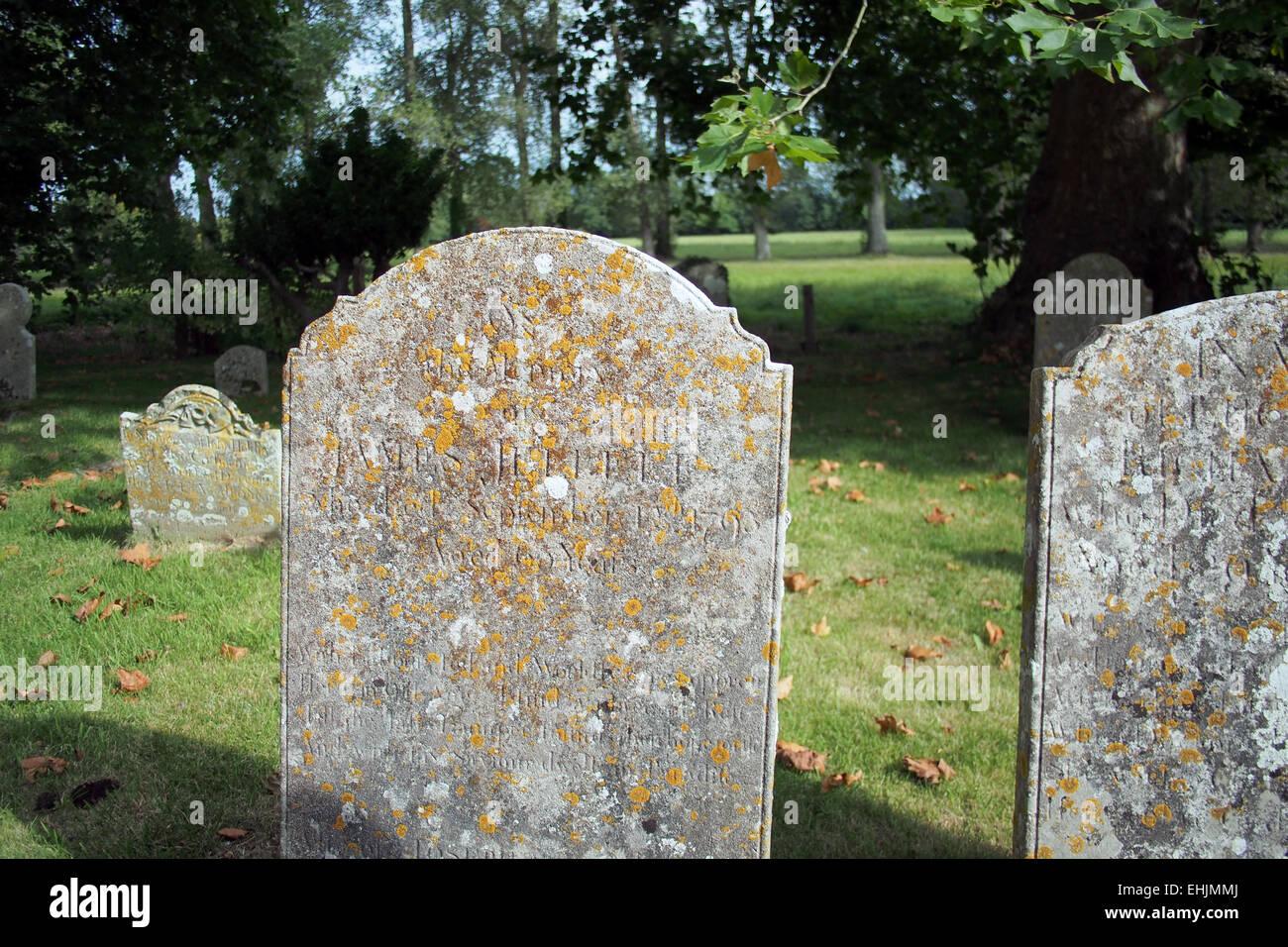 gravestones in a cemetery graveyard in  England UK - Stock Image