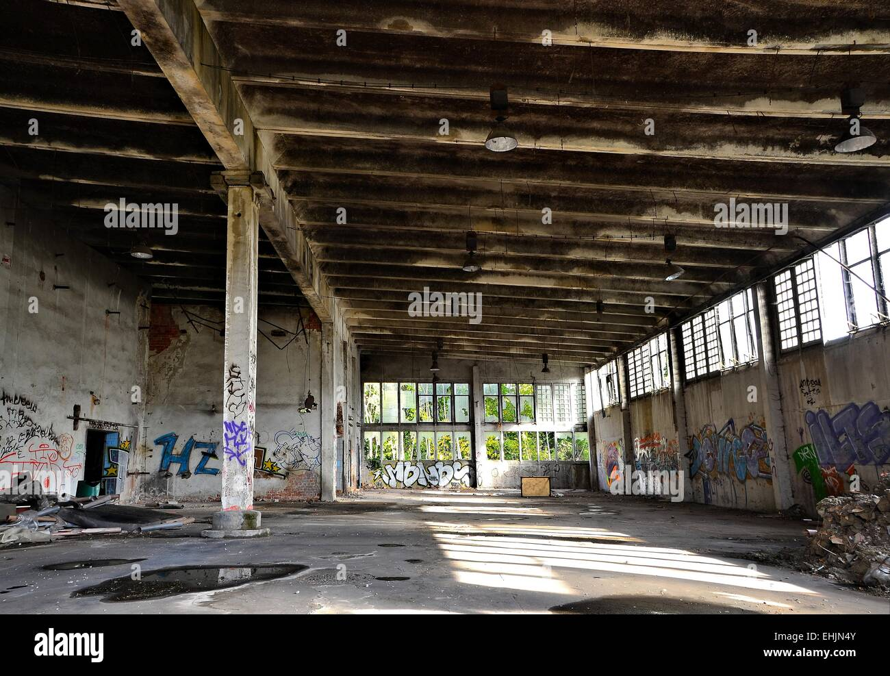 Derelict and abandoned Stock Photo