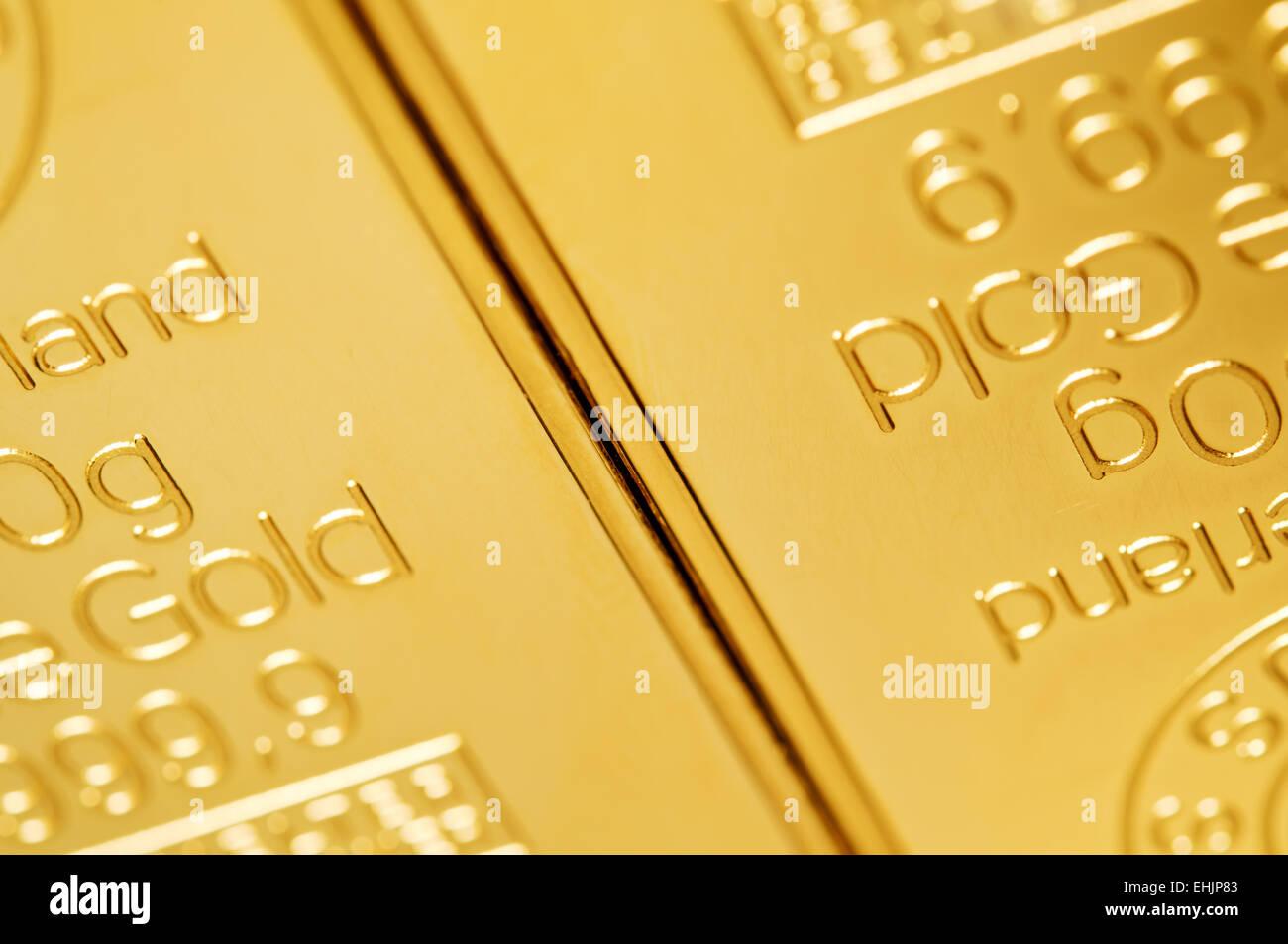 gold ingot  background - Stock Image