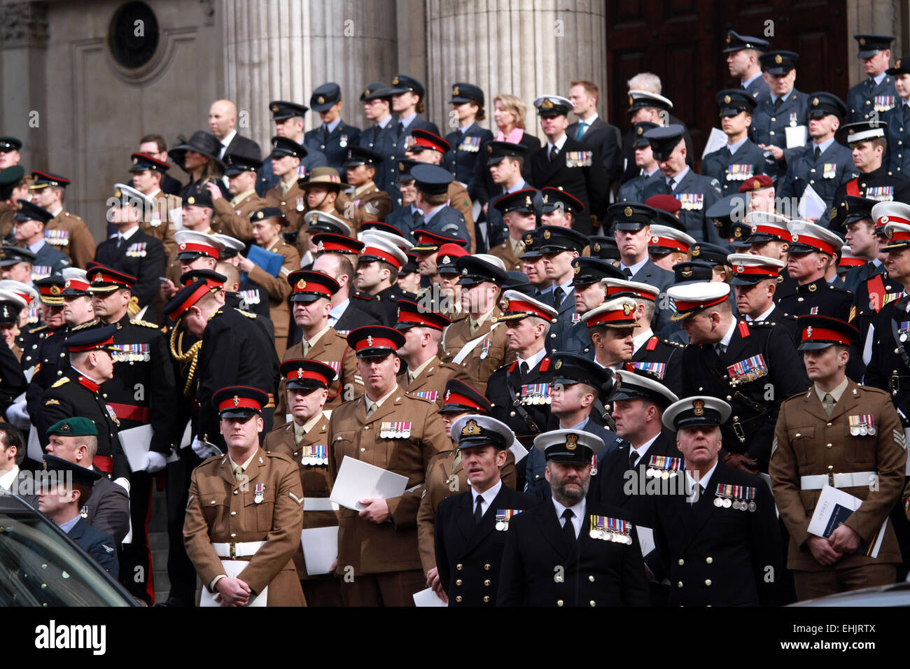 Service of Commemoration, St Paul's Cathedral . . London, UK . . 13.03.2015 Servicemen and women at the service - Stock Image