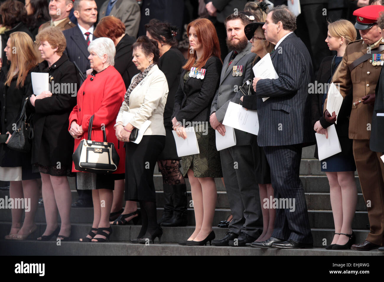 Service of Commemoration, St Paul's Cathedral . . London, UK . . 13.03.2015 Families of servicemen at the service - Stock Image